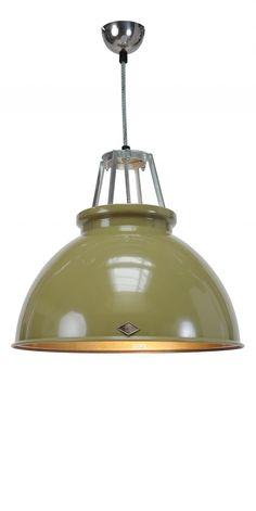 Hanglamp Titan 3 - Olijfgroen - Brons - BTC