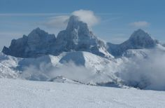 Grand Targhee ski resort (and what do you happen to see at the very top of the hill but The Grand Tetons! Great Places, Beautiful Places, Places To Travel, Places To Go, Adventure Travel Companies, Jackson Hole Wyoming, Ski Vacation, Images Google, Rocky Mountains