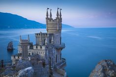 Swallow's Nest Castle was built in the early 20th century between 1911 and 1912 on a cliff that juts out over the Black Sea