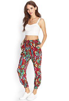 Tribal Print Joggers | FOREVER21 - 2000124696 $14.80