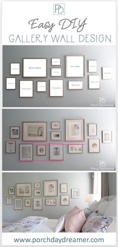 a Gallery Wall That Looks Like a Designer Did It! Create a Gallery Wall That Looks Like a Designer Did It!Create a Gallery Wall That Looks Like a Designer Did It! Gallery Wall Bedroom, Gallery Wall Layout, Photo Gallery Walls, Photo Walls, Photo Frame Walls, Gallery Wall Art, Picture Wall Collage, Photo Wall Layout, Photo Wall Design