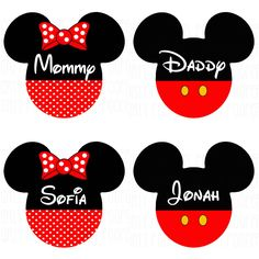 Disney Family T Shirts Personalized  Iron On Transfers.