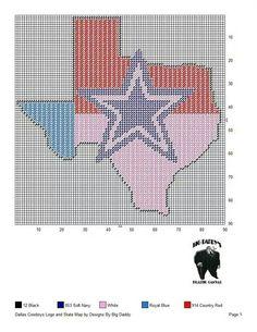 Dallas Cowboys logo in state flag Plastic Canvas Coasters, Plastic Canvas Crafts, Plastic Canvas Patterns, Dallas Cowboys Logo, Football Crafts, Plastic Canvas Christmas, Crochet Crafts, Crafts To Do, Cross Stitching