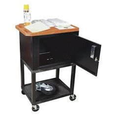 Utility Cart,h 42 In,orange Top Shelf - LUXOR by Luxor. $381.28. Utility Cart, Load Capacity 200 lb., Thermoplastic Resin Body, Steel Cabinet Construction, Color Orange Top Shelf, Black, Overall Length 24 In., Overall Width 18 In., Overall Height 42 In., Number of Shelves 3, Caster Size 4 In., Caster Type 4 Swivel, 2 with Lock, Caster Material Hard Rubber, Capacity per Shelf 100 lb., Distance Between Shelves 16 In., Shelf Length 24 In., Shelf Width 18 In., Lip H...