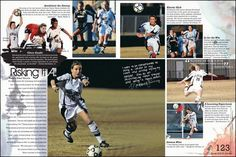 Good Sports page layout Teaching Yearbook, Yearbook Staff, Yearbook Pages, Yearbook Covers, Yearbook Theme, Yearbook Design Layout, Yearbook Layouts, Yearbook Ideas, Design Layouts