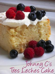 Tres Leches Cake, Make with Coco Lopez and Myers dark rum and it will make your taste bus dance!