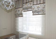 Воздушные двухслойные римские шторы