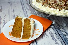 This carrot cake recipe is very clever. It's a lot like a blondie recipe but with finely shredded carrots. The moistness of the cake lends to grating the carrots with a fine grater. It's delicious! It can easily be served in a 9x13 pan or layered into 2-3 layers. You won't find a simpler carrot cake recipe anywhere. It's a great recipe that will definitely impress. Note: If you layer the cake, make sure to double the icing recipe (or triple if you like a lot of icing). Butter Pecan Cake, Vegetarian Cake, Cake Recipes From Scratch, Herb Butter, Cake Flavors, Yummy Cookies, Carrot Cake, Dessert Recipes, Dessert Ideas