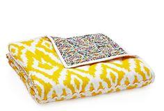 Ikat Quilt, Yellow/Multi on OneKingsLane.com