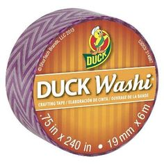 Duck Washi crafting paper tape, 0.75 in. by 240 inches. Single roll (Purple Chevron) Duck http://www.amazon.com/dp/B00K301M1I/ref=cm_sw_r_pi_dp_vM4.tb1P6HFNK