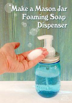 diy_mason_jar_foaming_soap_dispenser  things things things Handy Girl