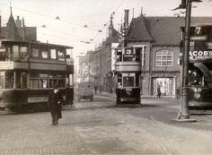 Trams at Trent Bridge, c1936