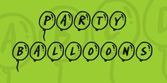 Party Balloons Font · 1001 Fonts