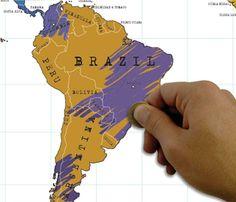 Rubbel-Weltkarte zum Aufhängen | Sowas will ich auch