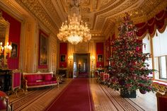 The magnificent State Apartments at ‪#‎WindsorCastle‬ have been transformed for the festive season. This year's Regency-themed display shows how the Prince Regent (the future George IV) celebrated Christmas at the Castle in the early 19th century. See the table in the State Dining Room laid with George IV's spectacular silver-gilt Grand Service, and the dazzling 24-foot Nordmann Fir Christmas tree in St George's Hall, decked out with gold decorations and over 20,000 twinkling lights -