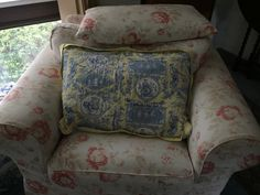 Toile Pillow Sham Laura Ashley spring flowers Blue And White Bedding, Pillow Shams, Pillows, Laura Ashley, Spring Flowers, Couch, Furniture, Home Decor, Toile