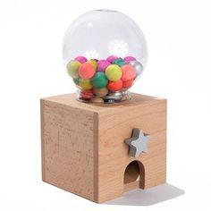 Japanese wooden gum ball machine