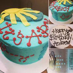 Baby shower cake and birthday cake