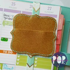Digital Download - Scallop Square Clip Keeper Planner Band - Parker on the Porch
