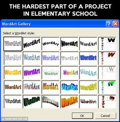 Hardest part of any elementary school project...