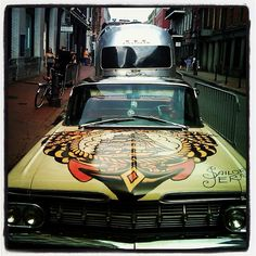 my car ; Rockabilly Guys, Vintage Cars, Retro Vintage, Sailor Jerry, I Cool, Zoom Zoom, American Muscle Cars, Tattoo Flash, Tattoo Art