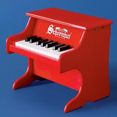Preschooler piano - The Land of Nod.  We definitely need one of these as much as RF plays his daddy's piano.