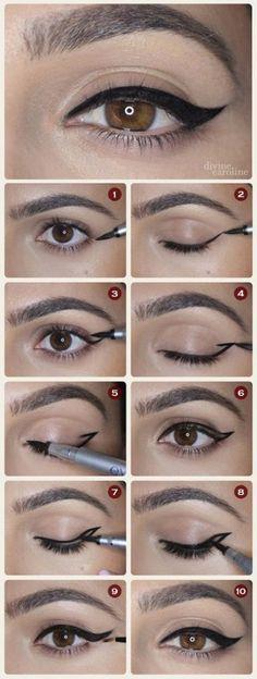 El mejor método para delinear tus ojos.
