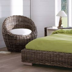 Rattan bedroom, the new natural material