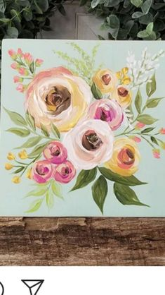 Floral painting c brooke ring colorful flower painting peonies in ginger jar pink floral art peonies in blue and white ginger jar pink and white ginger jar chinoiserie pink chinoiserie decor – Artofit Acrylic Painting Flowers, Acrylic Art, Wine And Canvas, Watercolor Paintings, Watercolors, Painting Inspiration, Diy Art, Painting & Drawing, Flower Art