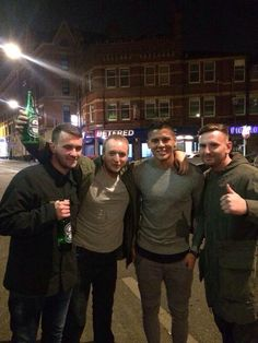 Manchester United fans bump into Marcos Rojo after the victory over QPR.
