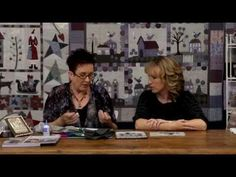 Appliqué and embroidery with Lynette Anderson from Quilters Companion #68 - YouTube