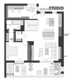Projekt Loft Style - MIKOŁAJSKAstudio Loft, Floor Plans, Deco, Studio, Wall, Stone, Projects, Lofts, Decor
