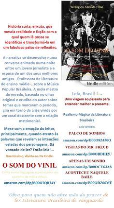 Start reading O SOM DO VINIL/Welington Almeida Pinto/ BRASIL. Enjoy: amazon.com/dp/B00OTQB74Y    Lançamento Edition Kindle para Você: Literatura Brasileira numa linguagem especial para iPhone, Tablet e Notebook. Divirta-se a um clique.   Realismo Mágico da Literatura Brasileira Conto de Welington Almeida Pinto, produzido numa linguagem, especialmente, para o seu aparelho de mídia virtual. Dá vontade de ler? Então leia.