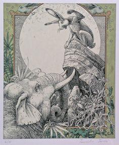 Vijaya and the Elephant's Oath by Tomislav Tomić - The Illustration Cupboard