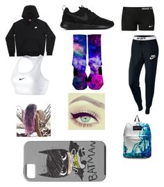 """School day"" by sorry-im-me ❤ liked on Polyvore featuring NIKE and JanSport"