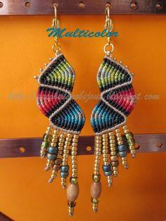 Macrame Earrings, Drop Earrings, Macrame Design, Micro Macrame, Smiley, Friendship Bracelets, Diys, Inspire, Youtube