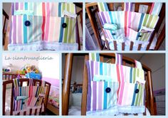 Diaper hanging holder. http://lacianfrusaglieria.blogspot.it/2012/04/finalmente-righe-finally-stripes.html