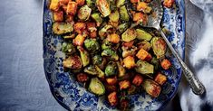 Toasty brown-butter croutons make simple roasted Brussels sprouts holiday worthy. Thanksgiving Casserole, Thanksgiving Dinner Menu, Thanksgiving Side Dishes, Thanksgiving Recipes, Holiday Dinner, Happy Thanksgiving, Holiday Recipes, Dinner Recipes, Vegetable Side Dishes