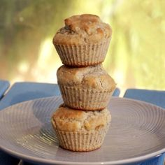 Coconut Banana Muffins - gluten free, low fat, healthy, vegan