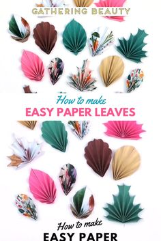 Get crafty this fall with these easy folded paper Paper Crafts Origami, Origami Easy, Scrapbook Paper Crafts, Diy Paper, Origami Videos, Scrapbook Kit, Leaves Template Free Printable, Owl Templates, Applique Templates