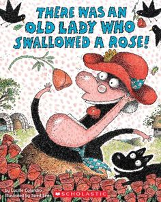 There Was an Old Lady Who Swallowed a Rose! by Lucille Colandro Speech Therapy Activities, Language Activities, Book Activities, Sequencing Activities, Educational Activities, Valentines Day Book, Valentines Day Activities, Valentine Ideas, Holiday Activities