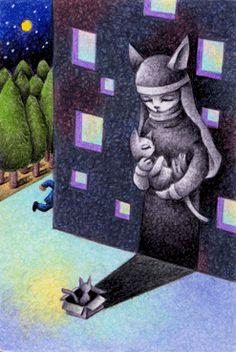 Fairy tale art - Wish of kitten