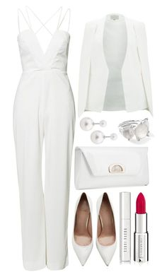 A fashion look from March 2016 featuring Lavish Alice blazers, AQ/AQ jumpsuits and Stuart Weitzman pumps. Browse and shop related looks. White Fashion, Look Fashion, Runway Fashion, Womens Fashion, Trendy Fashion, Fashion Night, Party Fashion, Mode Outfits, Fashion Outfits