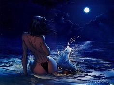 Fantasy Cartoon Babe Wallpaper 002