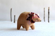 ukranian circus bear  felt bear soft sculpture by by RoyalMint