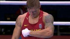 Oleksandr Usyk, Olympic winner, dancing Hopak on the ring.