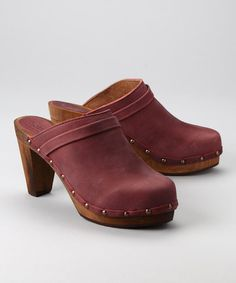 Take a look at this Rusty Wood Tanya Plateau Open Clog - Women by Sanita Clogs on #zulily today!