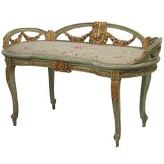 1stdibs | Louis XV Style Bench Needle Point Upholstery