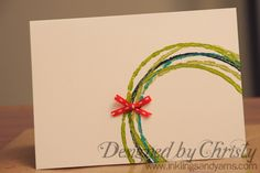 Super cute, super easy make them yourself Christmas cards