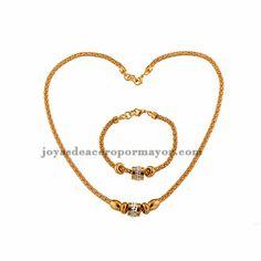 collar cruz para las chicas en estilo de perlas en color dorado